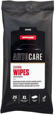 Premium XL Leather Auto Care Wipes - Works On Leather Seats and other Leather Surfaces