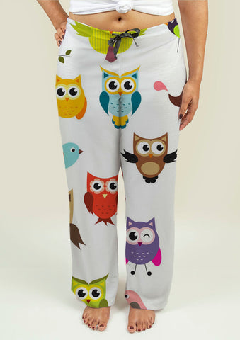 Ladies Pajama Pants with Owls - Gardennaire
