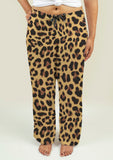 Ladies Pajama Pants with Leopard Print - Gardennaire