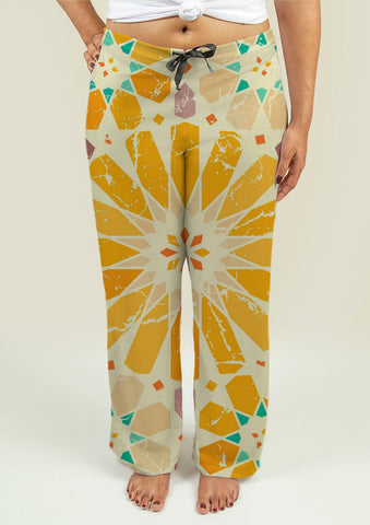 Ladies Pajama Pants with Arabic Pattern - Gardennaire