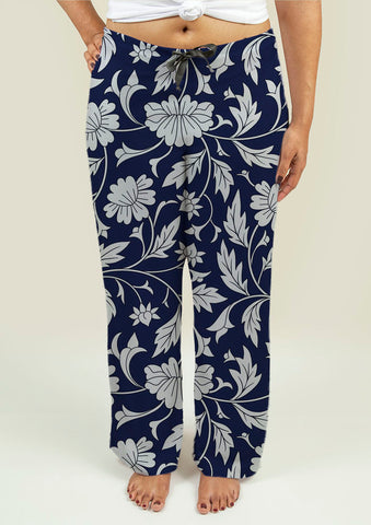 Ladies Pajama Pants with Chinese pattern - Gardennaire