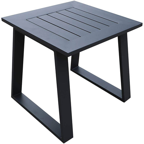 Cast Aluminum Outdoor Square End Table,Patio Metal Side Table by Gardennaire