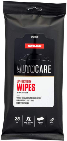 Premium XL Upholstery Auto Care Wipes - Works On Carpet and Upholstery Allergen Free Fabric - Gardennaire