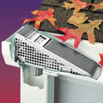 The Wedge Downspout Gutter Guard Plus for 6 inch gutters or 5 inch Gutters Includes Adapter for Oversize Gutters (4-Pack)