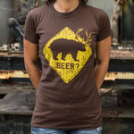 Beer? Bear T-Shirt (Ladies) - Gardennaire