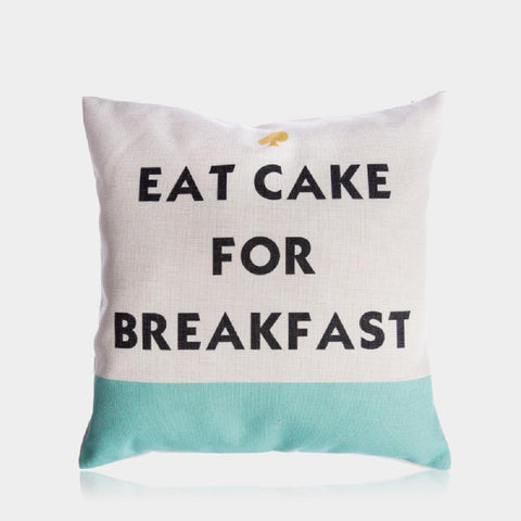 "Breakfast Pillow Cover 18"" x 18"""