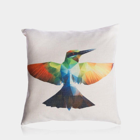 "Colorful Bird Pillow Cover 18"" x 18"""