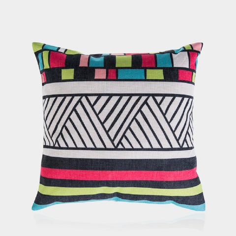 "Colorful Cube A Pillow Cover 18"" x 18"""