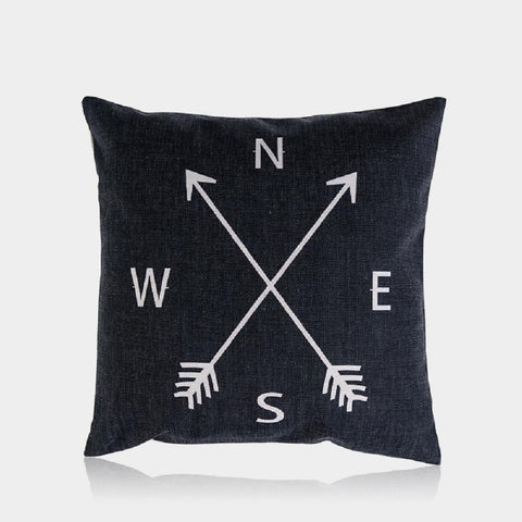 "Compass Pillow Cover 18"" x 18"""