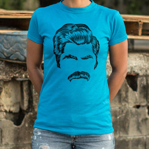 Director Of Mustache T-Shirt (Ladies) - Gardennaire