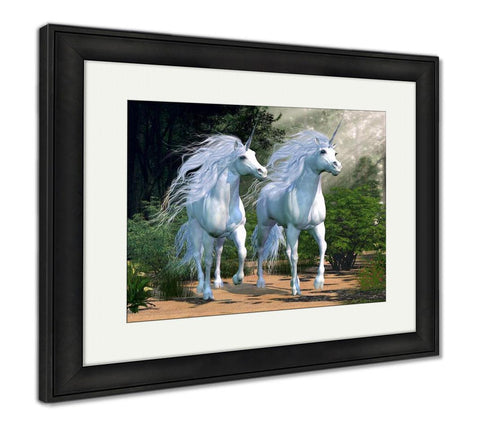 Framed Print, Enchanted Forest - Gardennaire