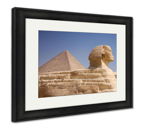 Framed Print, Great Pyramid And Sphinx Gizegypt - Gardennaire