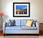 Framed Print, Colosseum Rome Vatican Place Saint Peter Cathedral At Night - Gardennaire