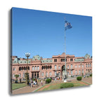 Gallery Wrapped Canvas, Casa Rosada On Plaza De Mayo At Buenos Aires - Gardennaire