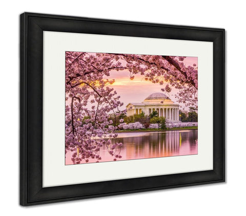 Framed Print, Jefferson Memorial In Spring - Gardennaire