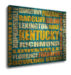Gallery Wrapped Canvas, Kentucky State Cities List - Gardennaire