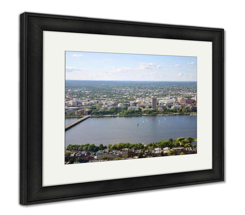 Framed Print, Mit Campus On Charles River Bank Boston - Gardennaire