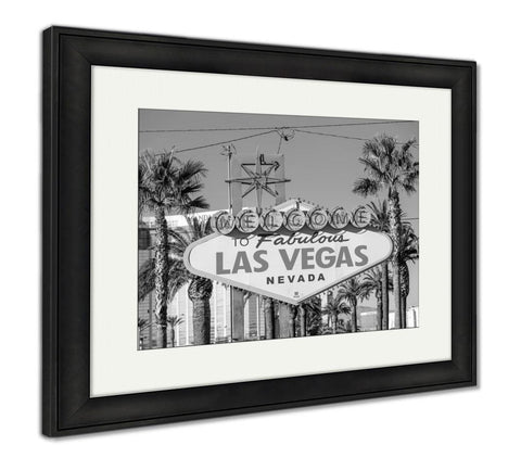 Framed Print, Welcome To Fabulous Las Vegas Sign - Gardennaire