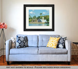 Framed Print, Concept For Travel Subject Minas Gerais Brazil Yellow Sign - Gardennaire