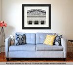 Framed Print, Supreme Court Building In Washington Dc Equal Justice Under Law - Gardennaire