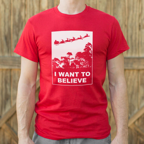 I Want To Believe In Santa T-Shirt (Mens) - Gardennaire