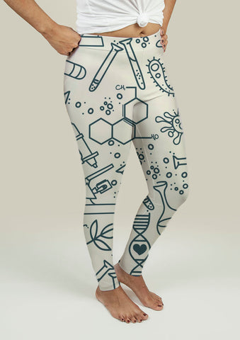 Leggings with Science Pattern - Gardennaire