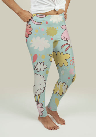 Leggings with Sheeps on Clouds - Gardennaire