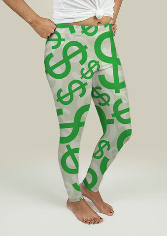 Leggings with Dollar Signs - Gardennaire