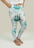 Leggings with Ships at Sea - Gardennaire