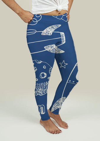 Leggings with Rockets - Gardennaire