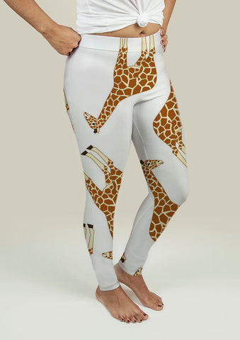 Leggings with Giraffes - Gardennaire