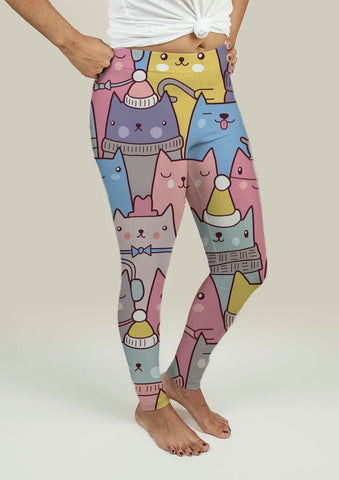 Leggings with Cats at Christmas - Gardennaire
