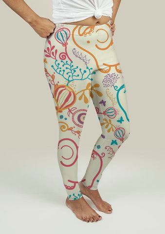 Leggings with Elephants - Gardennaire
