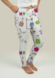 Leggings with Chemistry Pattern - Gardennaire