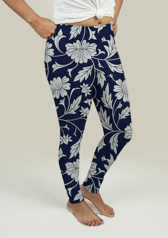 Leggings with Chinese pattern - Gardennaire