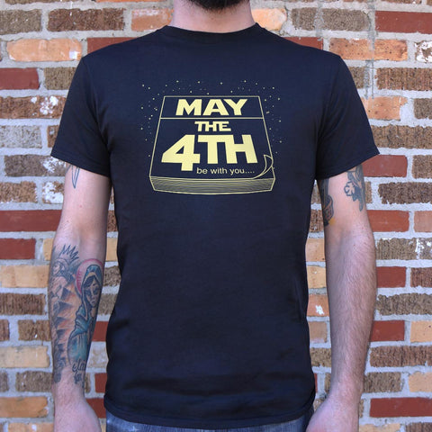 May The Fourth Be With You T-Shirt (Mens) - Gardennaire