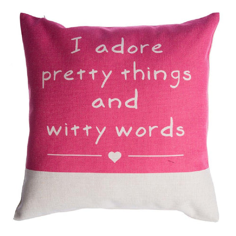 "Pretty Things Pillow Cover 18"" x 18"""