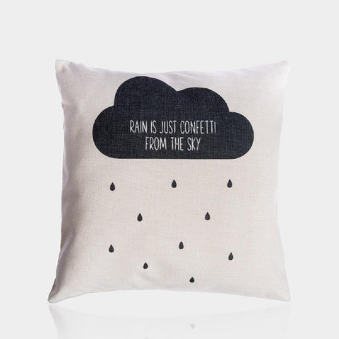 "Rain Clouds Pillow Cover 18"" x 18"""