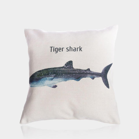 "Tiger Shark Pillow Cover 18"" x 18"""