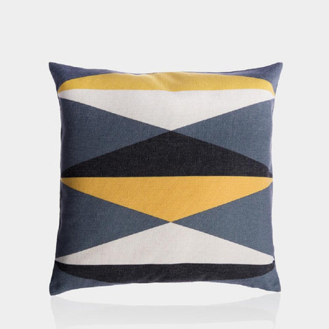 "Yellow and Gray D Pillow Cover 18"" x 18"""