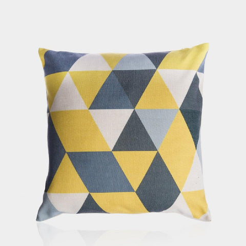 "Yellow and Gray F Pillow Cover 18"" x 18"""