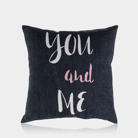 "You and Me Pillow Cover 18"" x 18"""