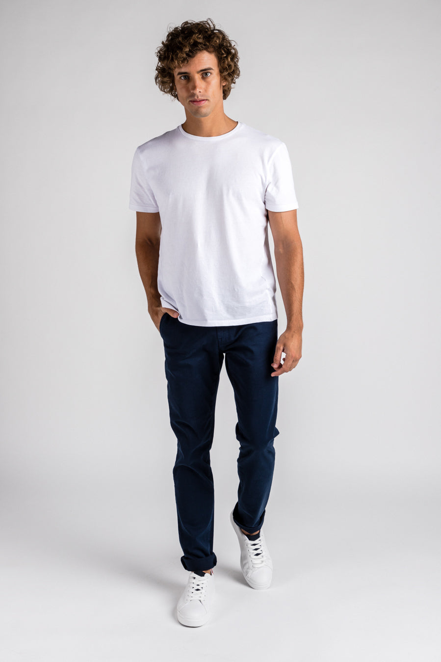 Washed Chino Slim Atlantic