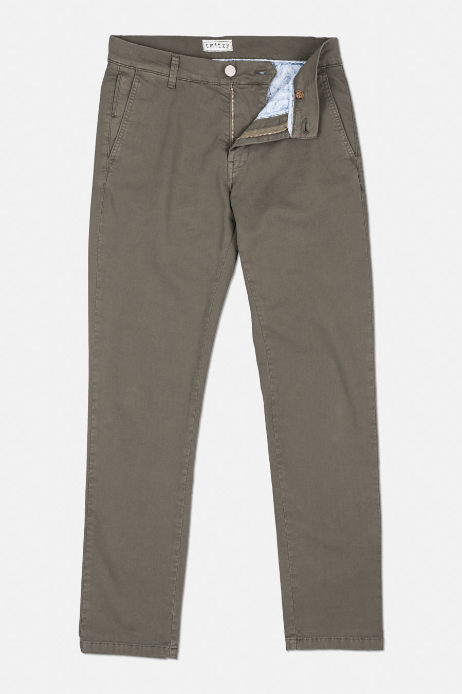 Washed Chino Slim Olive