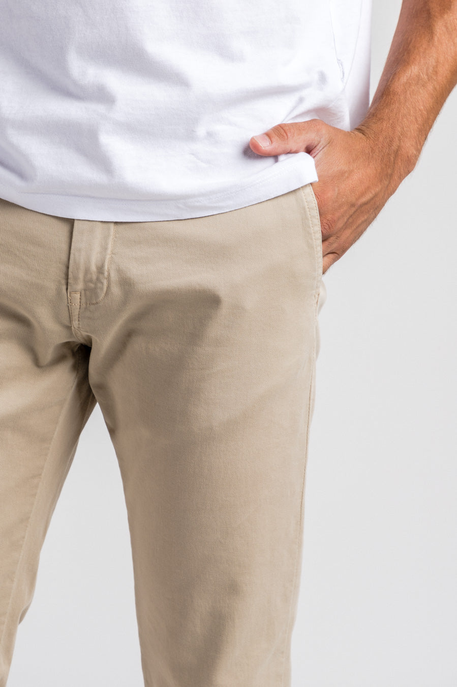 Washed Chino Slim Sahara