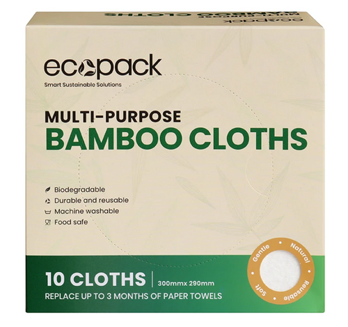 Bamboo Cloths 10 x Pack - Ecopack