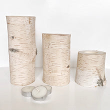Load image into Gallery viewer, Real Birchwood Candle Holders (3 pcs)