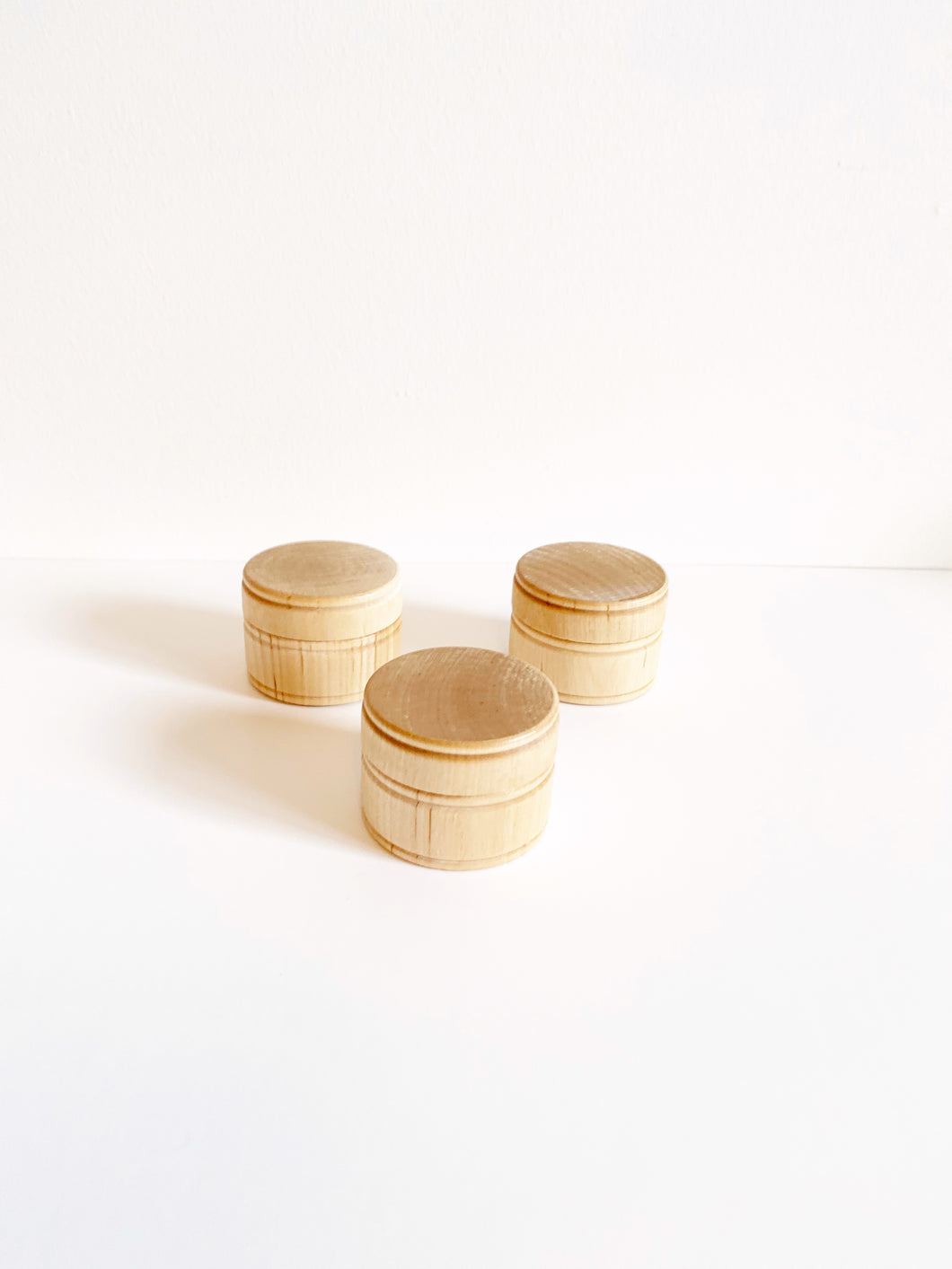 Wood Trinket Box with Lid