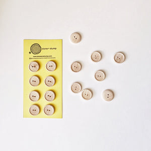 Natural Wood Buttons (8 pcs)