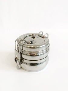 2-Tier Stainless Steel Tiffin Food Carrier